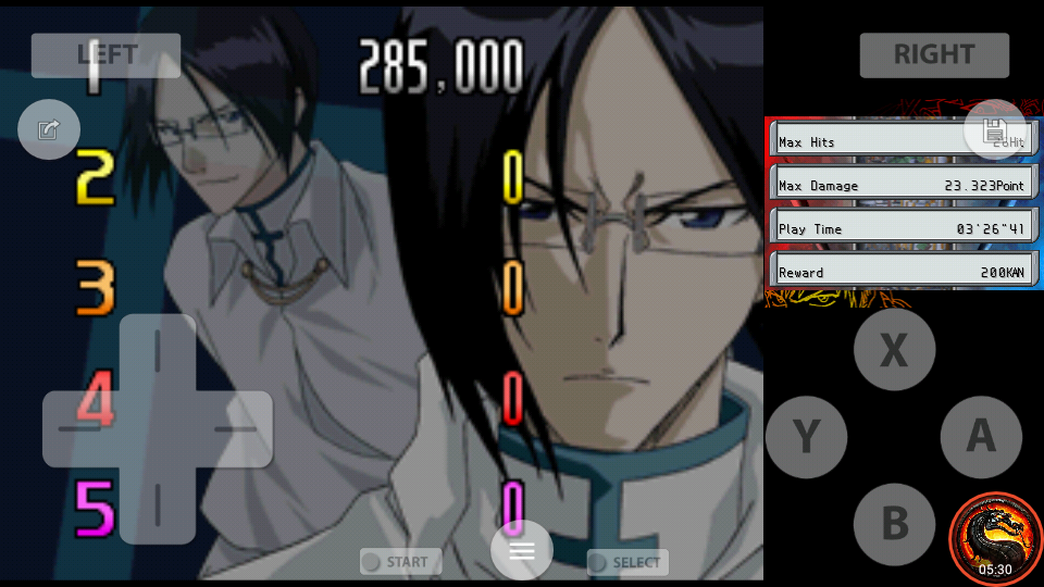 omargeddon: Bleach: The Blade Of Fate: Arcade Mode: Uryu [Normal] (Nintendo DS Emulated) 285,000 points on 2020-10-08 13:50:40