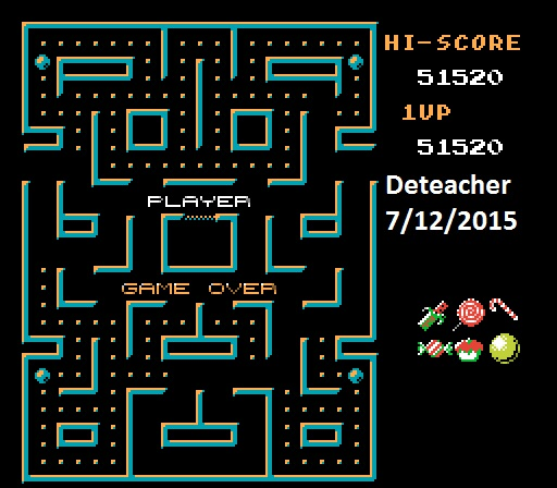 Deteacher: Blob Muncher: Arcade (NES/Famicom Emulated) 51,520 points on 2015-07-12 12:51:28