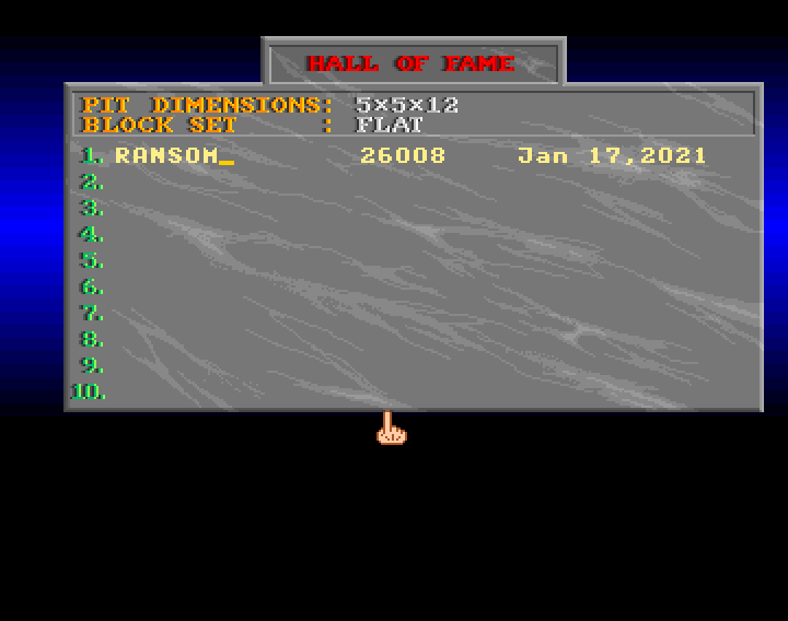 ransom: Block Out (Amiga Emulated) 26,008 points on 2021-01-16 23:52:24