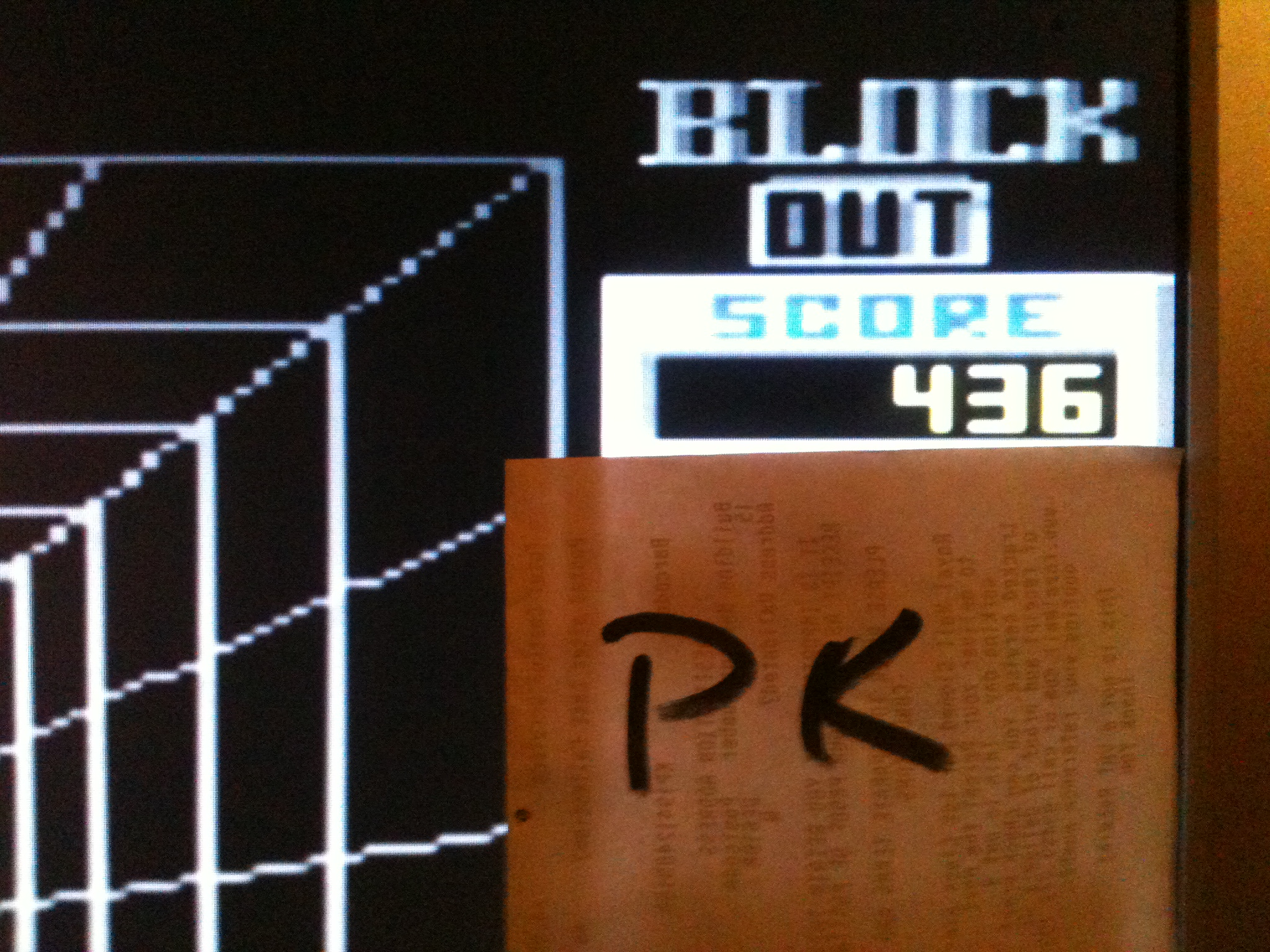 kernzy: Block Out (Commodore 64 Emulated) 436 points on 2015-09-23 13:28:28