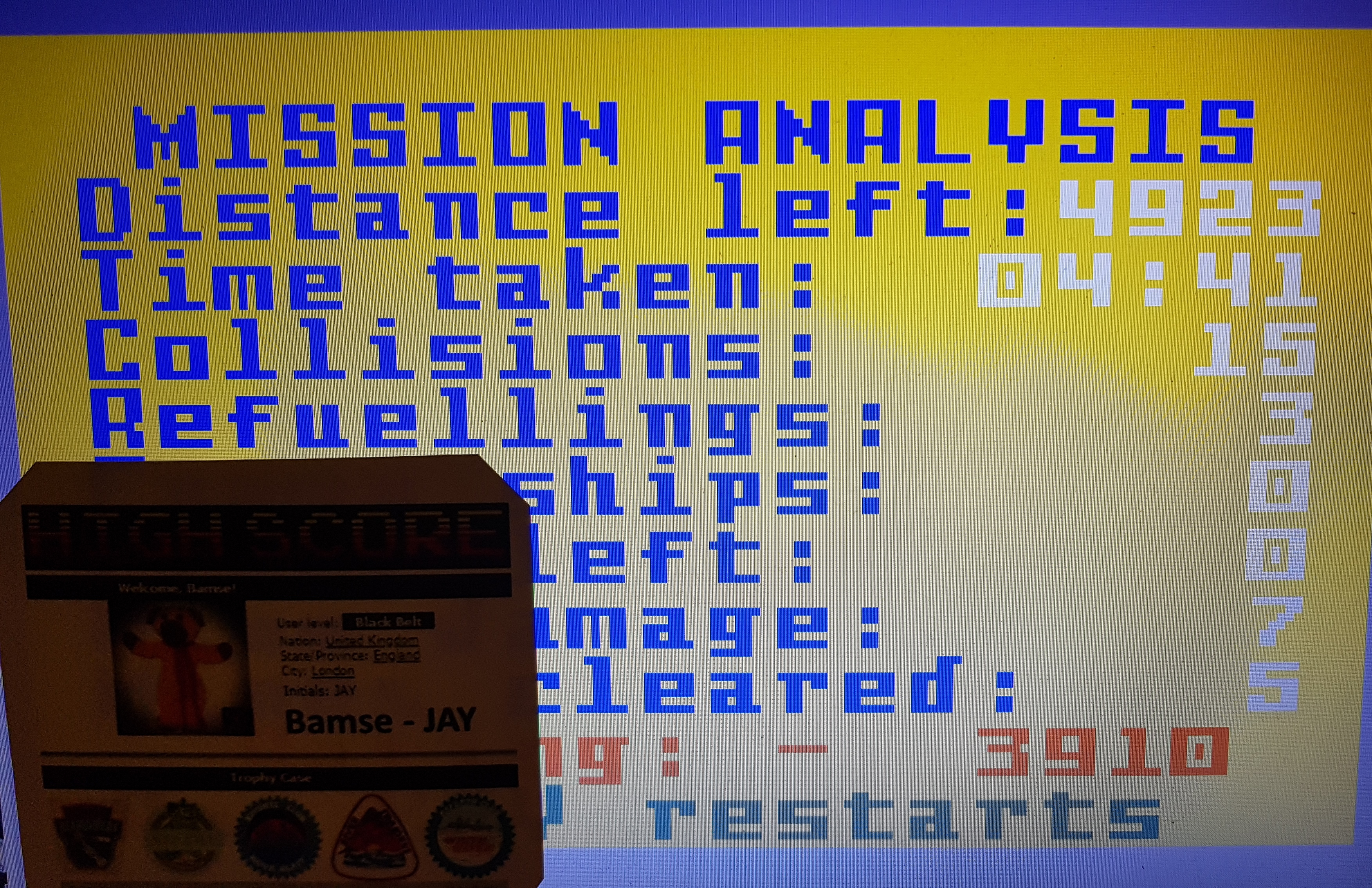 Bamse: Blockade Runner (Intellivision Emulated) -3,910 points on 2019-09-01 16:52:48