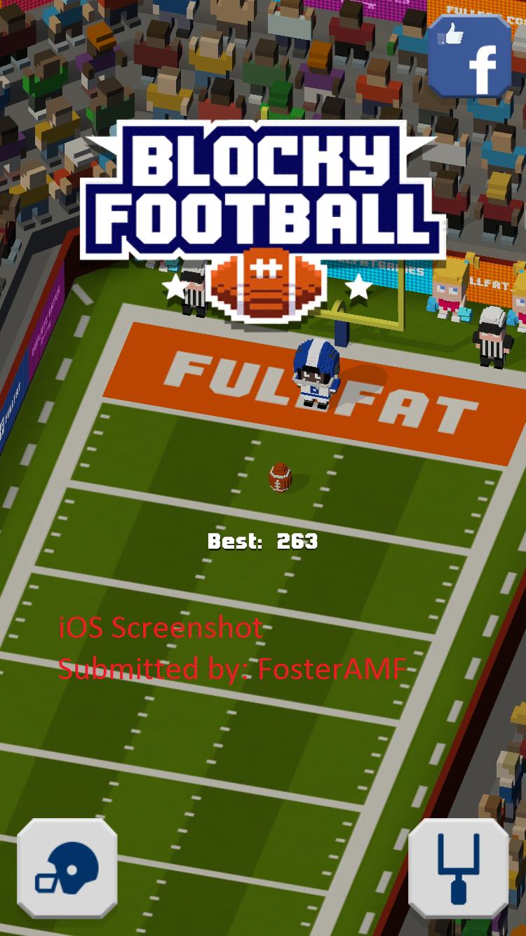 FosterAMF: Blocky Football (iOS) 263 points on 2016-02-01 14:25:17