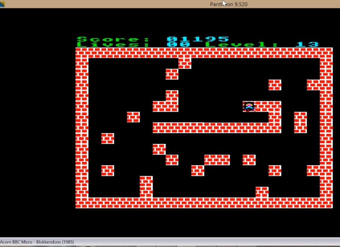 LuigiRuffolo: Blokkendoos (BBC Micro Emulated) 1,195 points on 2020-07-27 05:12:11