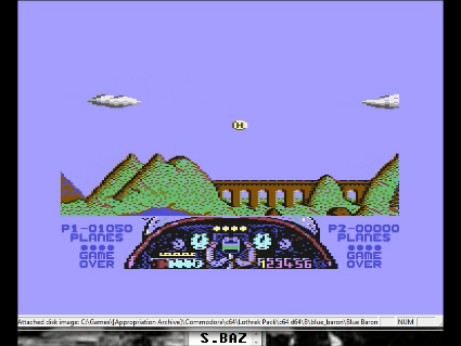 S.BAZ: Blue Baron (Commodore 64 Emulated) 1,050 points on 2016-05-27 16:59:58
