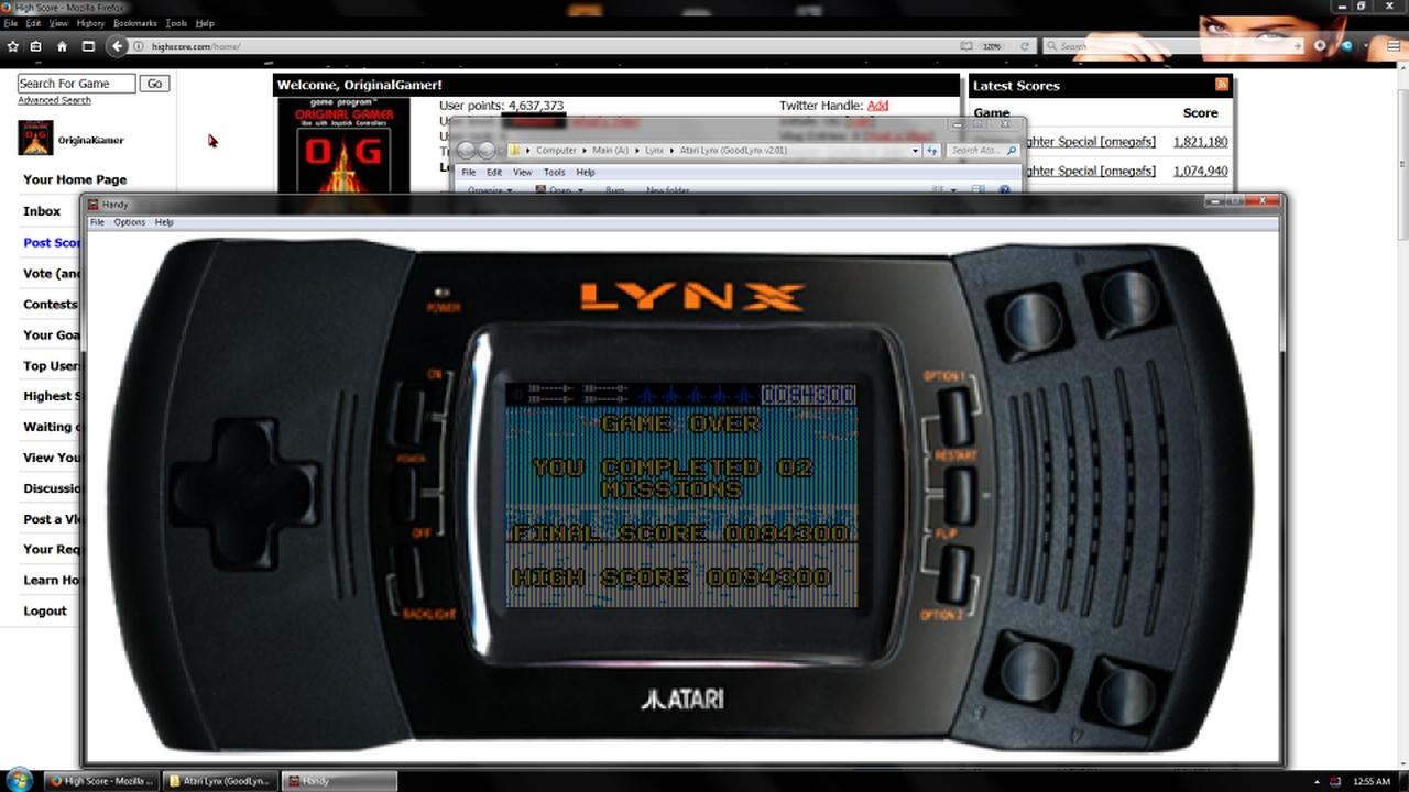 OriginalGamer: Blue Lightning (Atari Lynx Emulated) 94,300 points on 2018-03-25 00:56:19