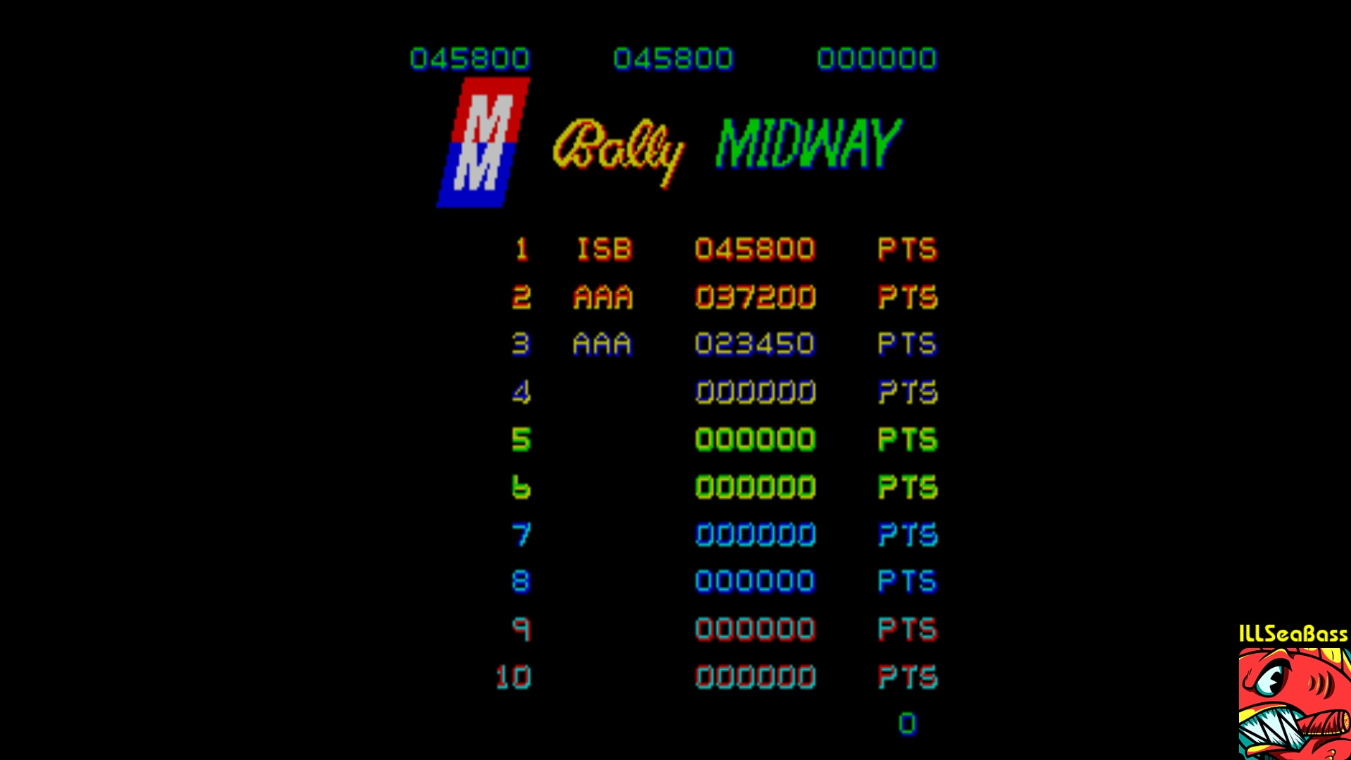 ILLSeaBass: Blue Print (Arcade Emulated / M.A.M.E.) 45,800 points on 2018-01-22 12:54:09