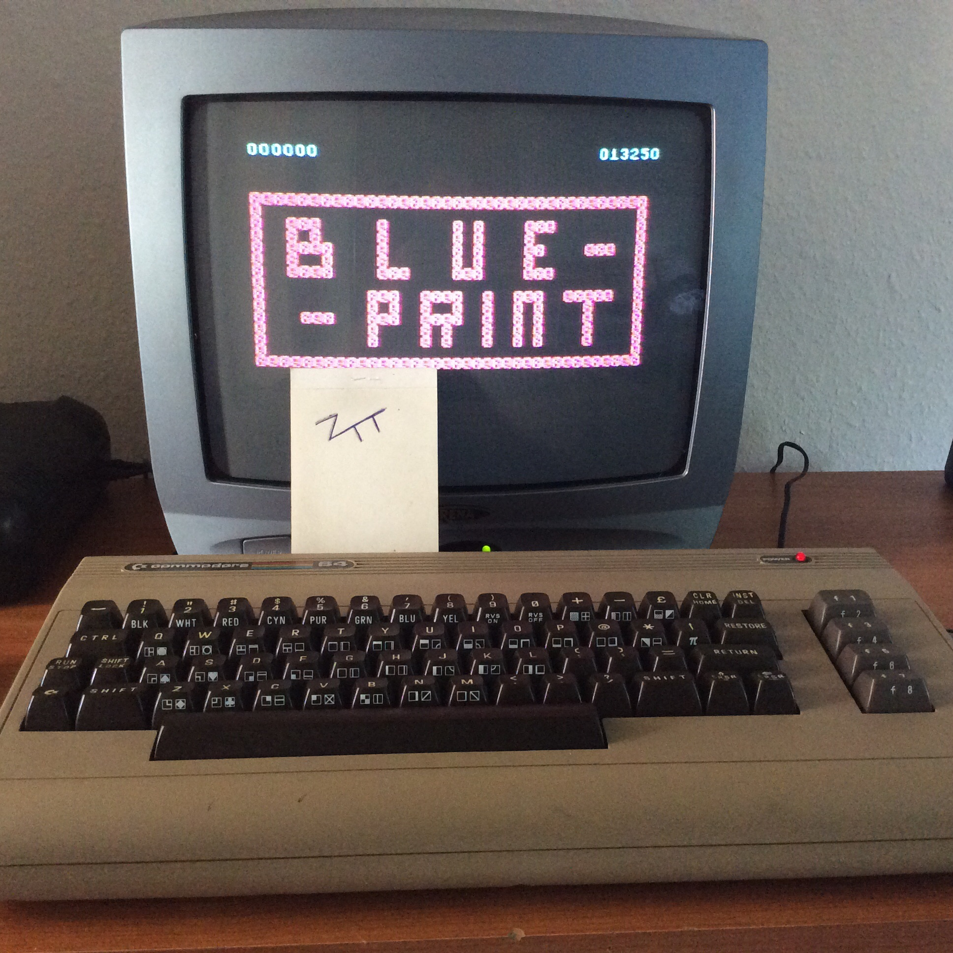Frankie: Blue Print (Commodore 64) 13,250 points on 2016-06-09 12:44:56