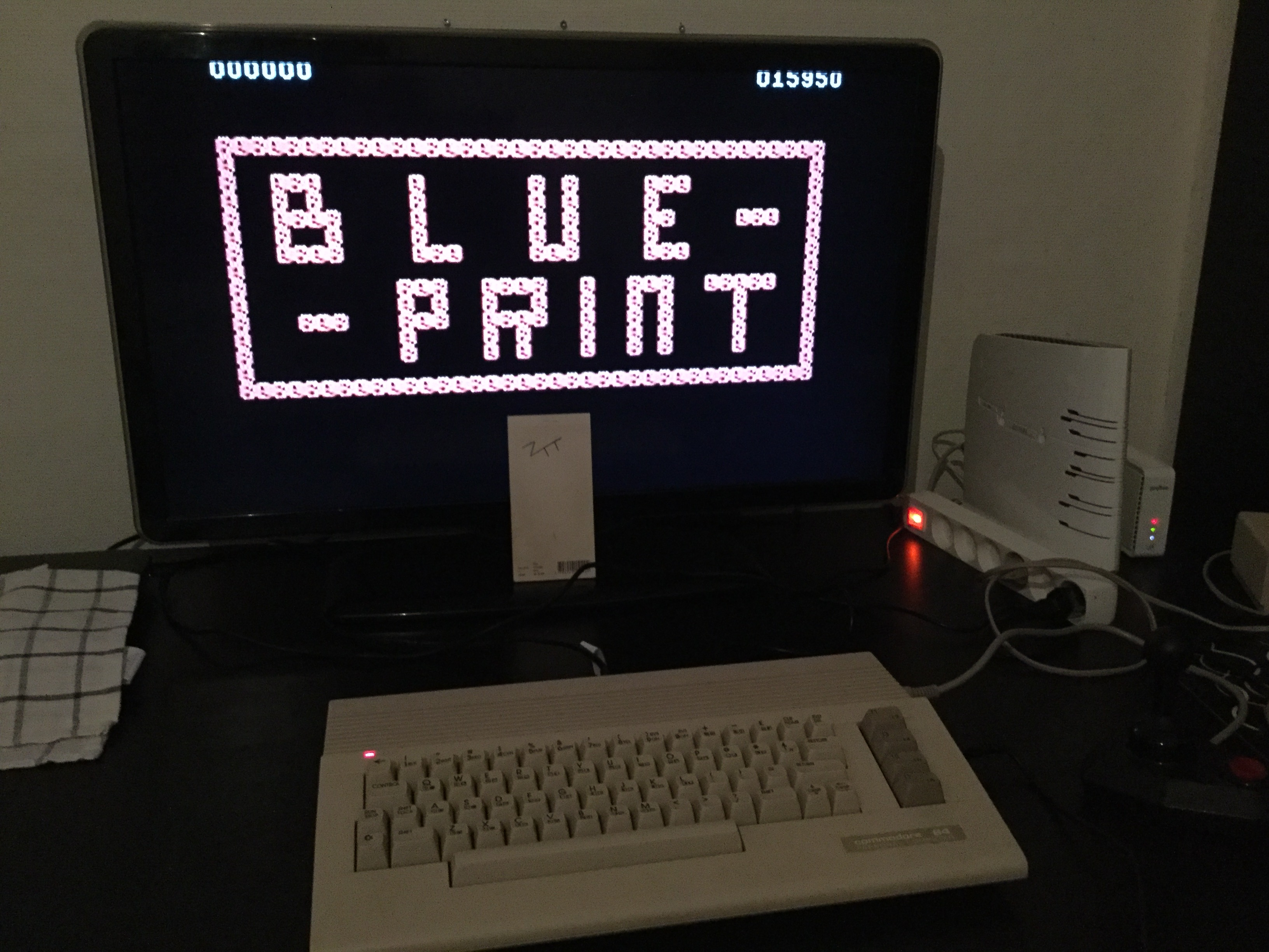 Frankie: Blue Print (Commodore 64) 15,950 points on 2019-03-13 14:05:40