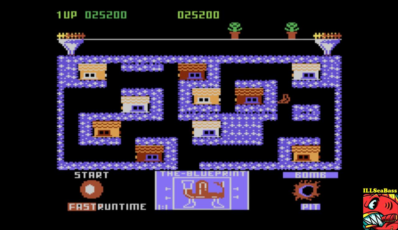 ILLSeaBass: Blue Print [Level 1] (Atari 5200 Emulated) 25,200 points on 2017-01-07 01:57:44