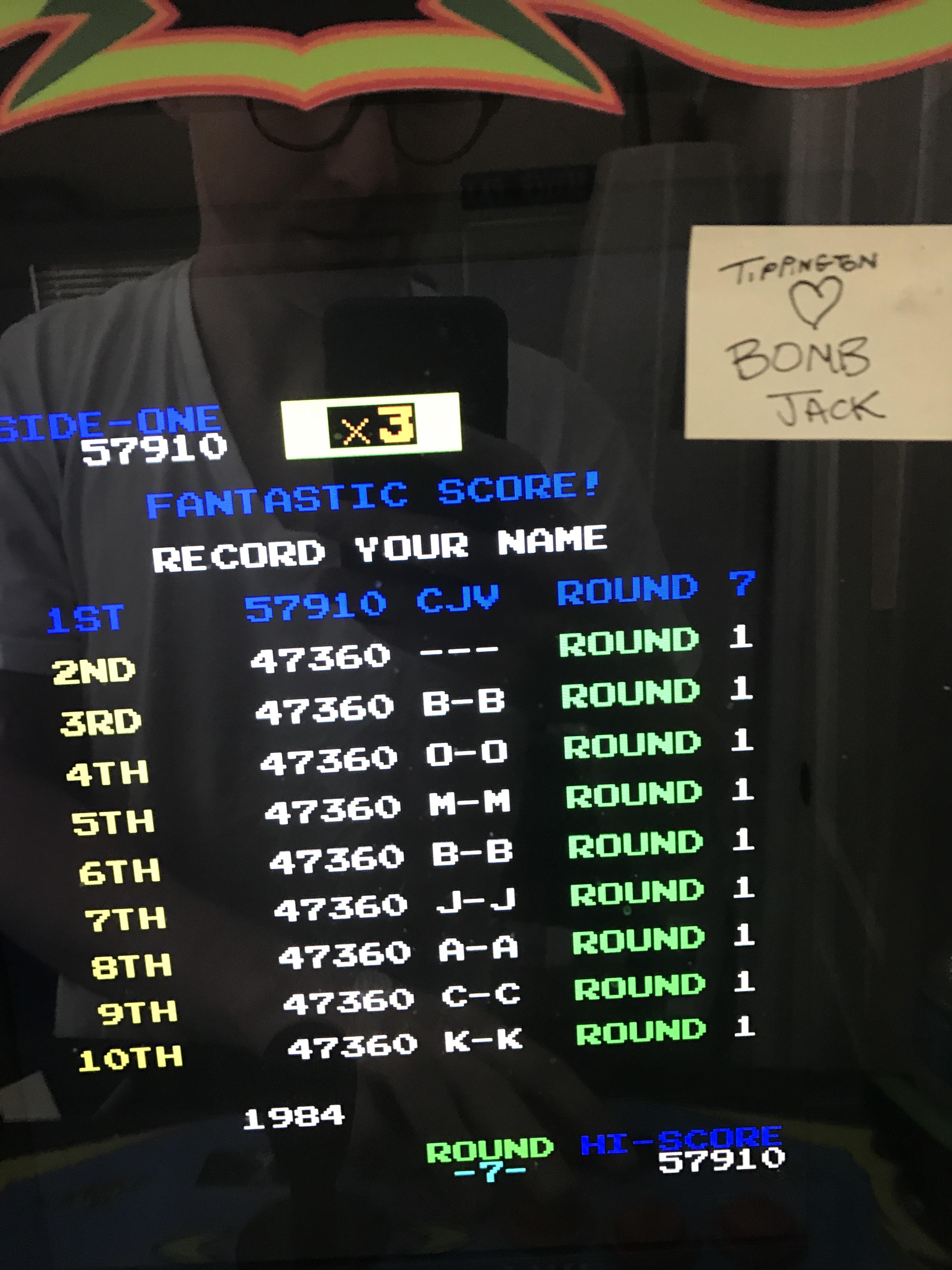 Bomb Jack 57,910 points