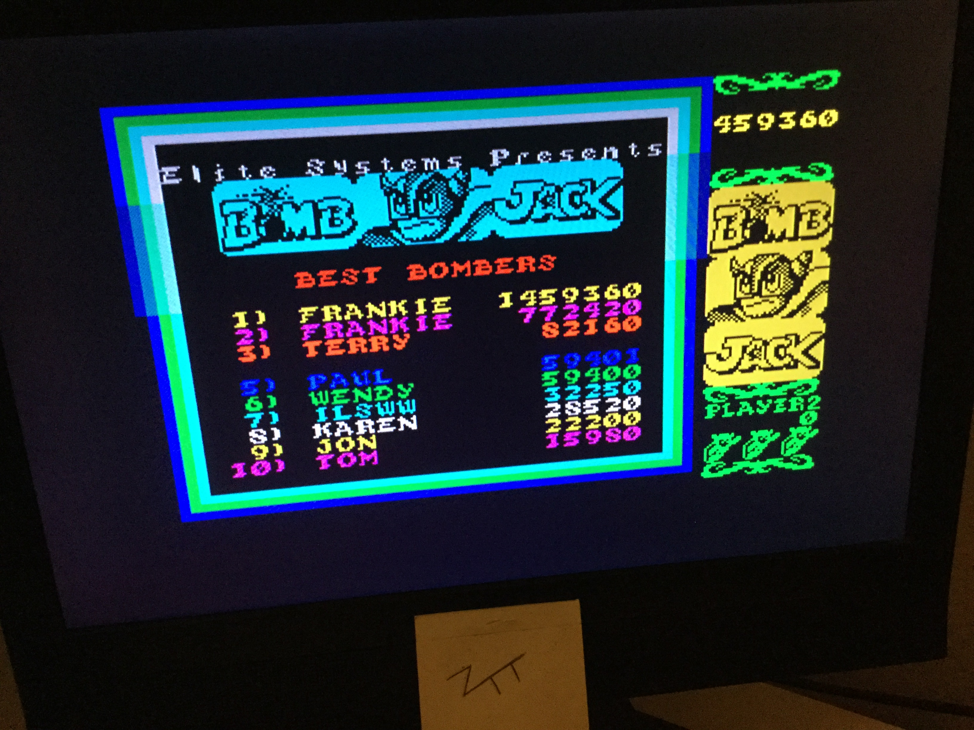 Frankie: Bomb Jack (ZX Spectrum) 1,459,360 points on 2020-04-11 15:18:13