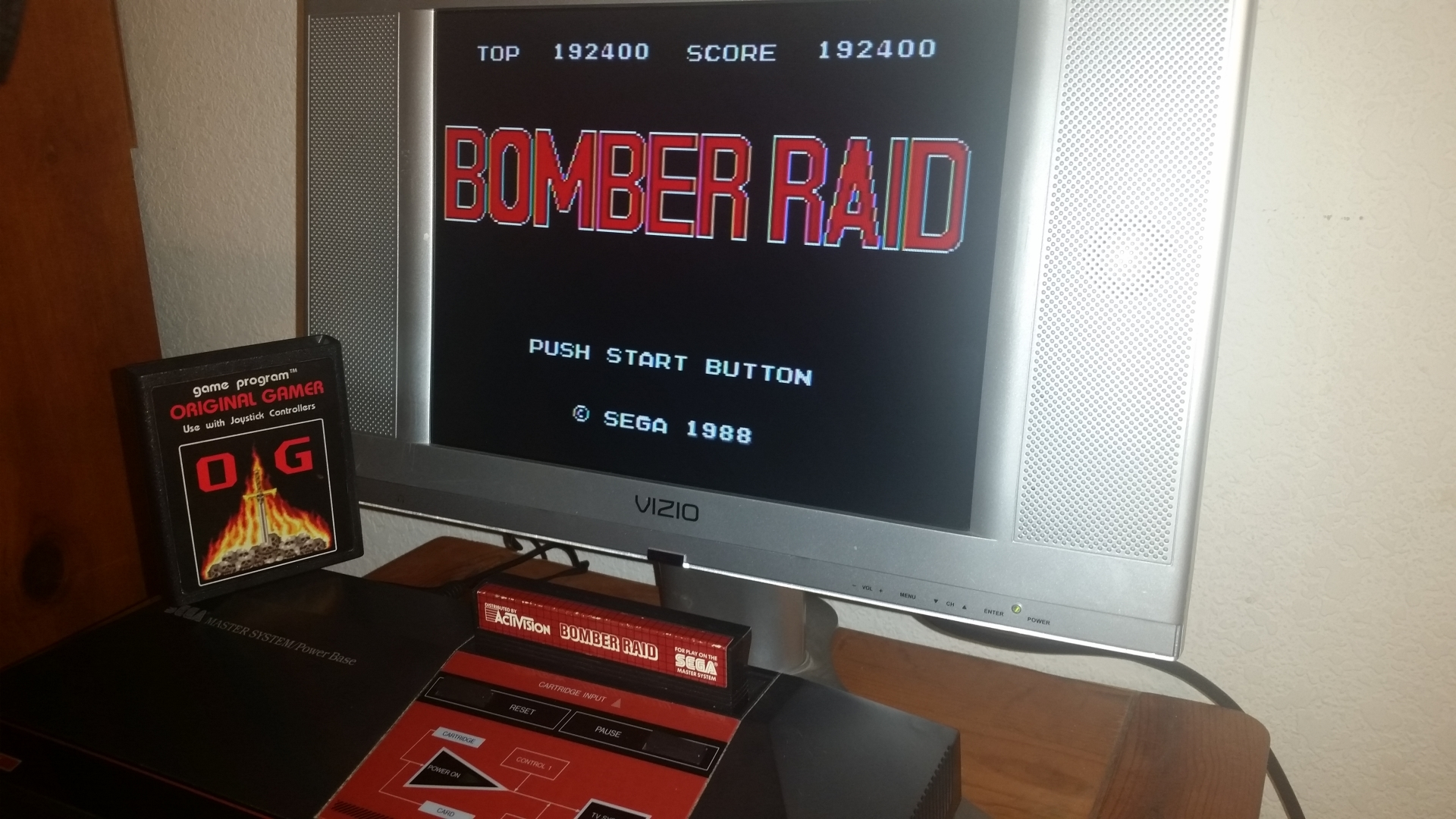 OriginalGamer: Bomber Raid (Sega Master System) 192,400 points on 2016-11-17 01:36:05
