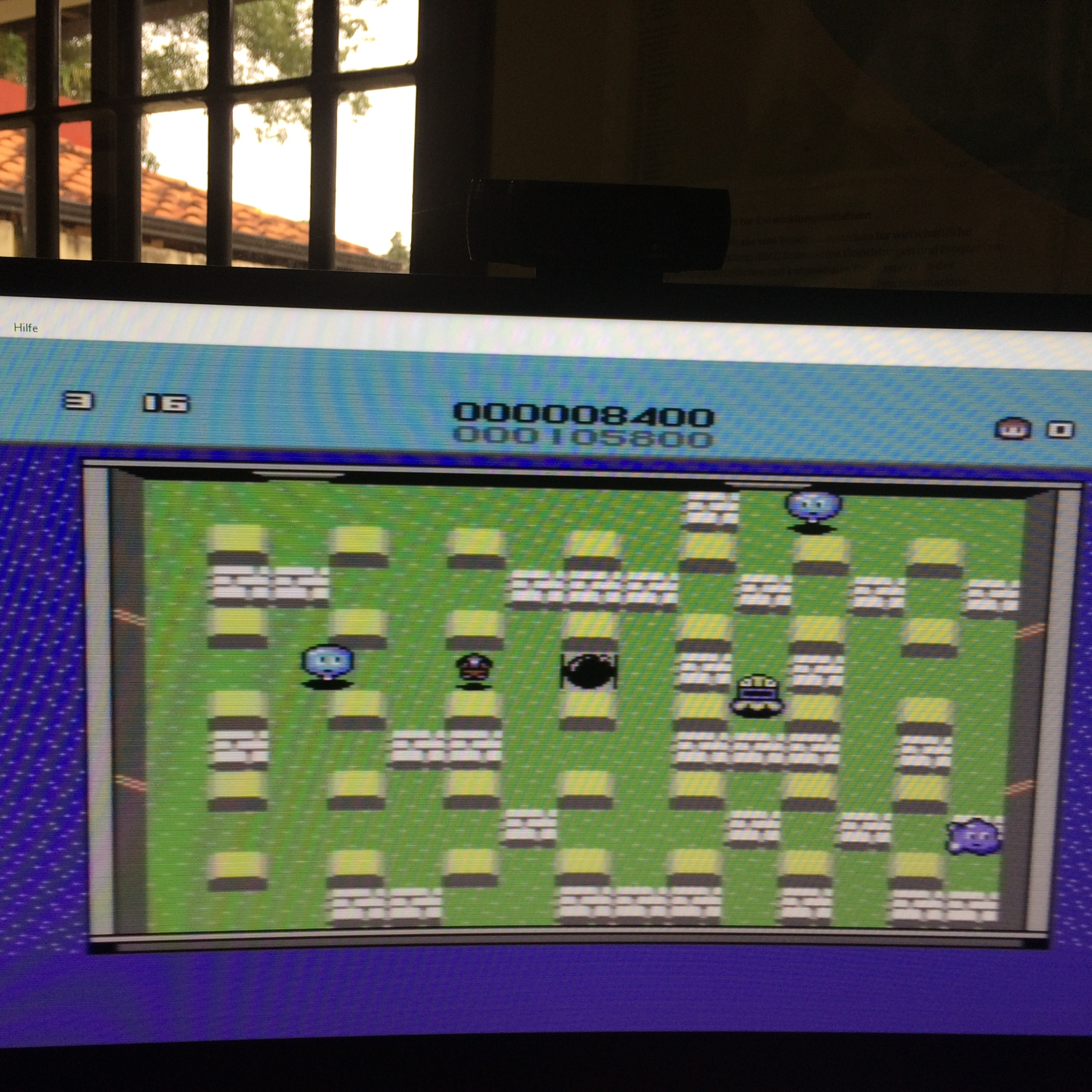 Bomberman C64 8,400 points