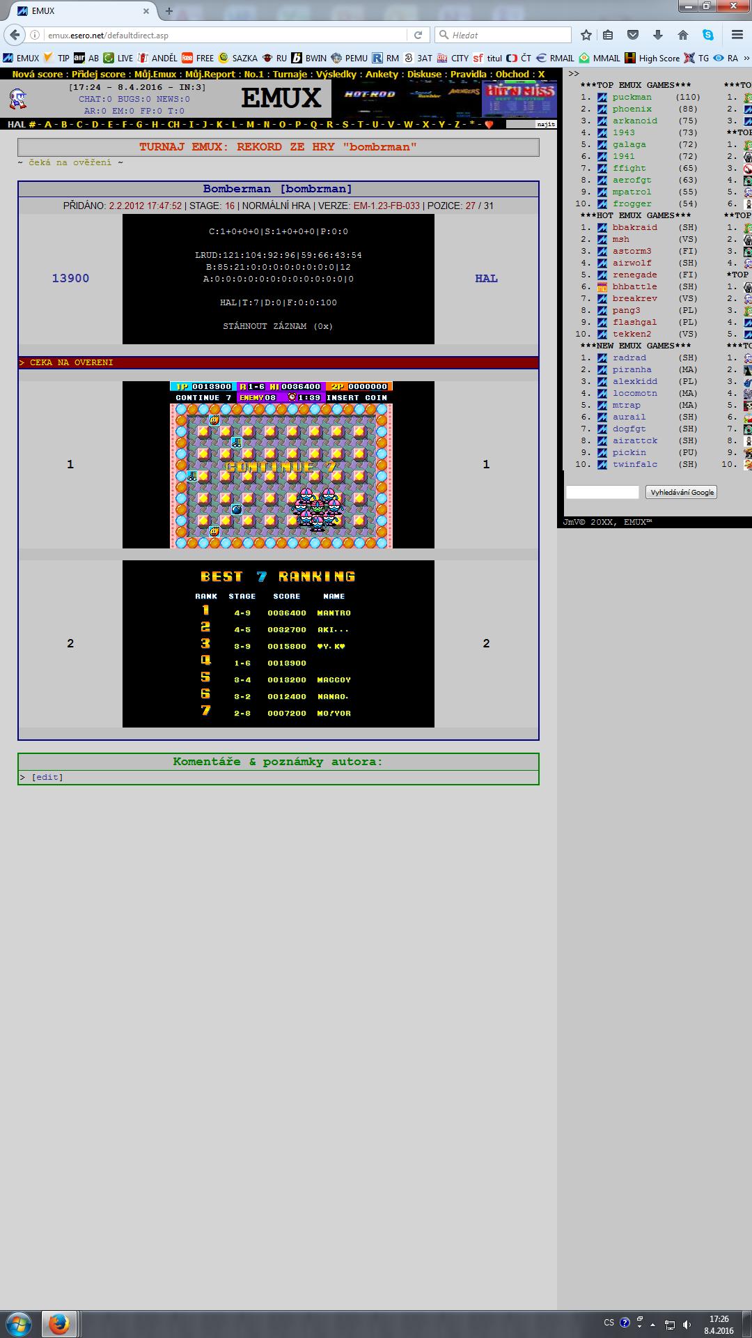 Bomberman / Dynablaster 13,900 points