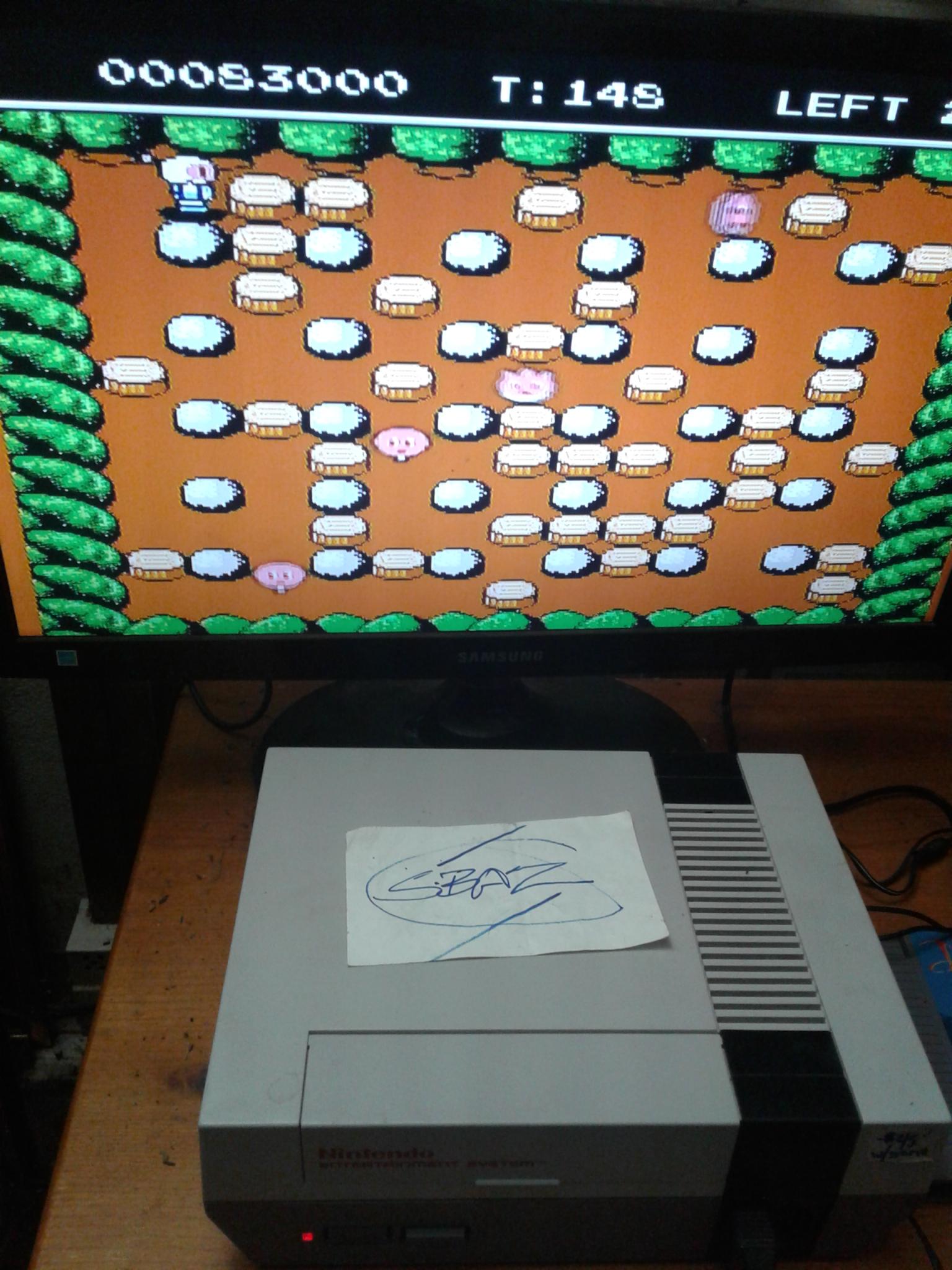 S.BAZ: Bomberman II [Normal Mode] (NES/Famicom) 83,000 points on 2019-11-27 22:07:07