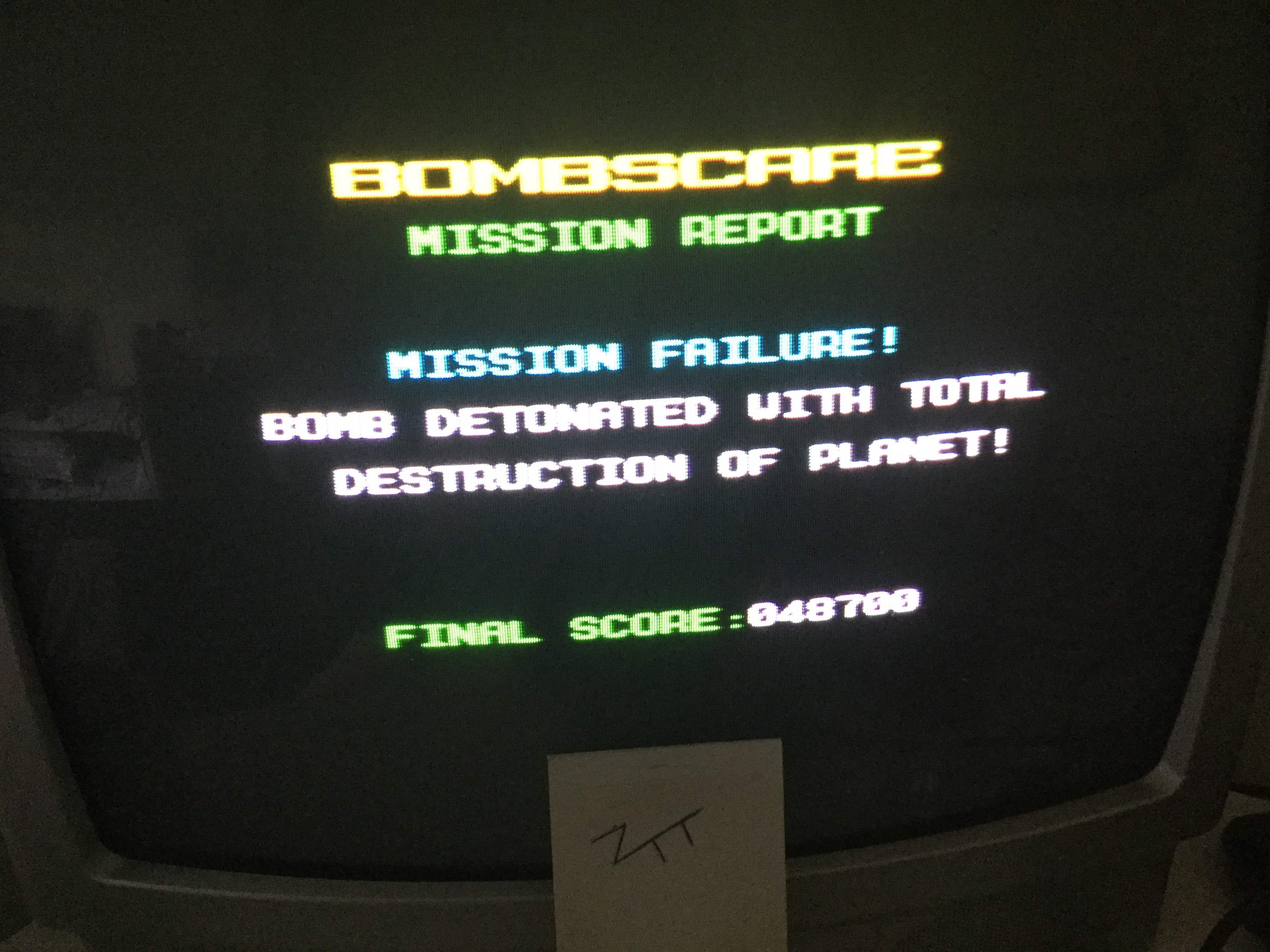Frankie: Bombscare [Firebird Software] (ZX Spectrum) 48,700 points on 2018-07-31 12:26:34