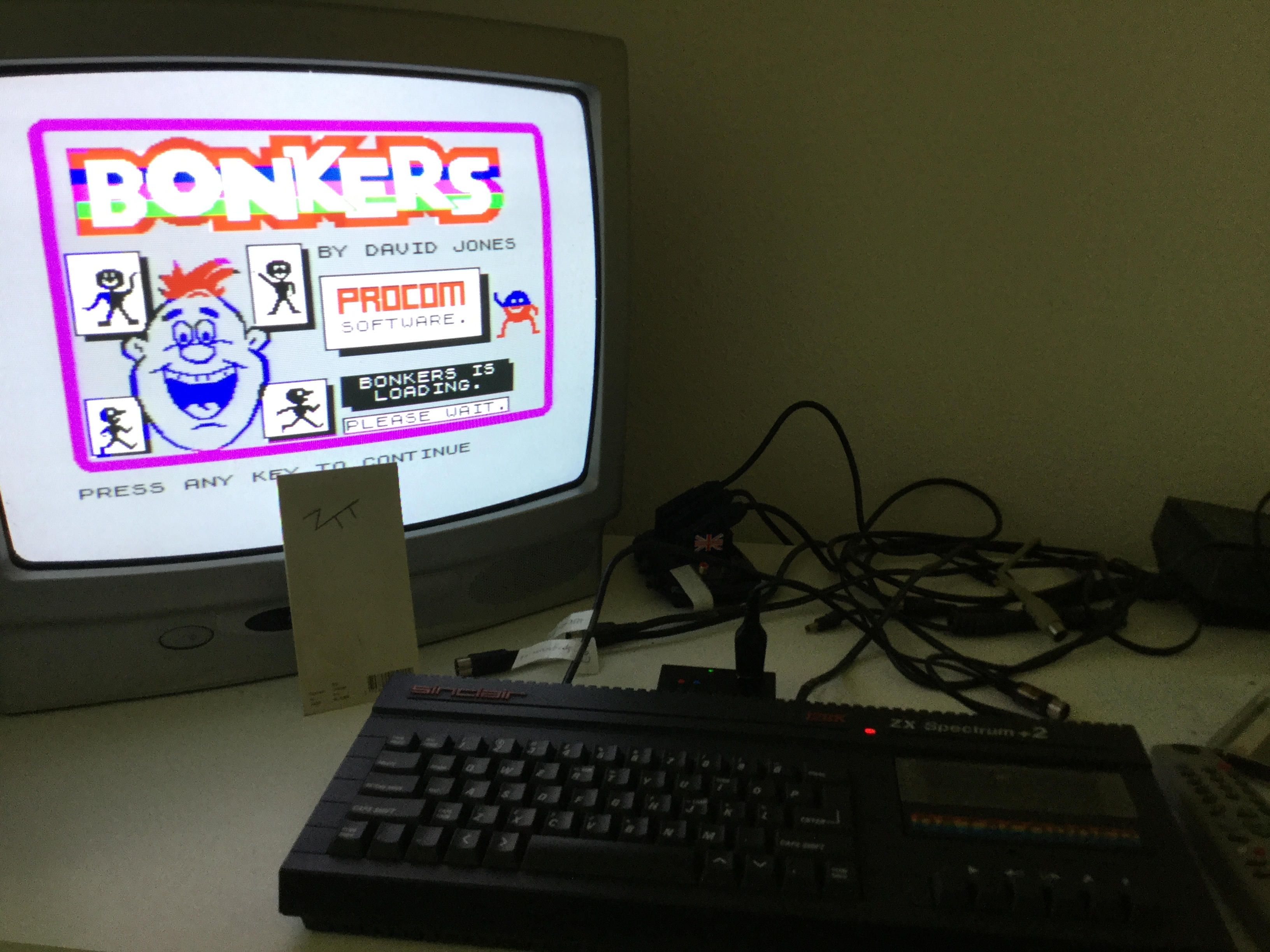 Frankie: Bonkers (ZX Spectrum) 5,340 points on 2018-08-18 04:27:38