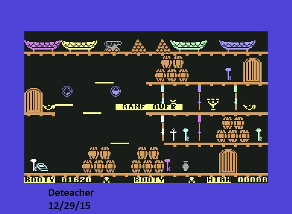 Deteacher: Booty (Commodore 64 Emulated) 1,620 points on 2015-12-29 09:36:06