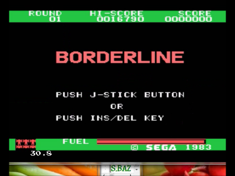 S.BAZ: Borderline (Sega SG-1000 Emulated) 16,750 points on 2016-10-24 19:48:19