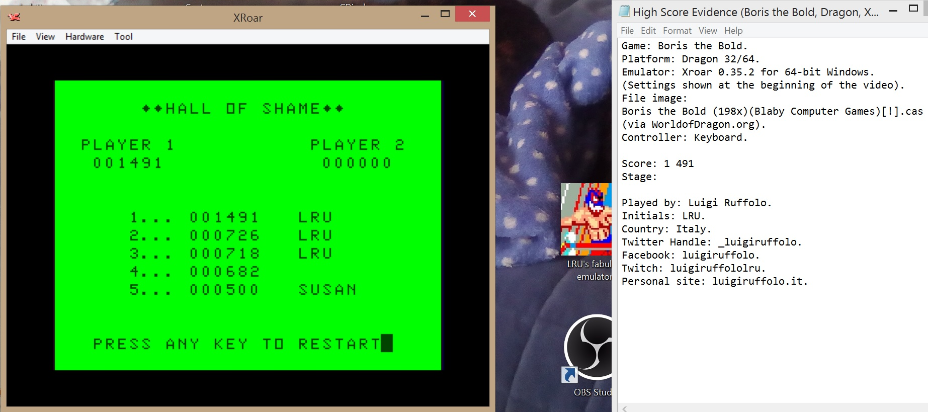 LuigiRuffolo: Boris The Bold (Dragon 32/64 Emulated) 1,491 points on 2020-08-16 12:35:13