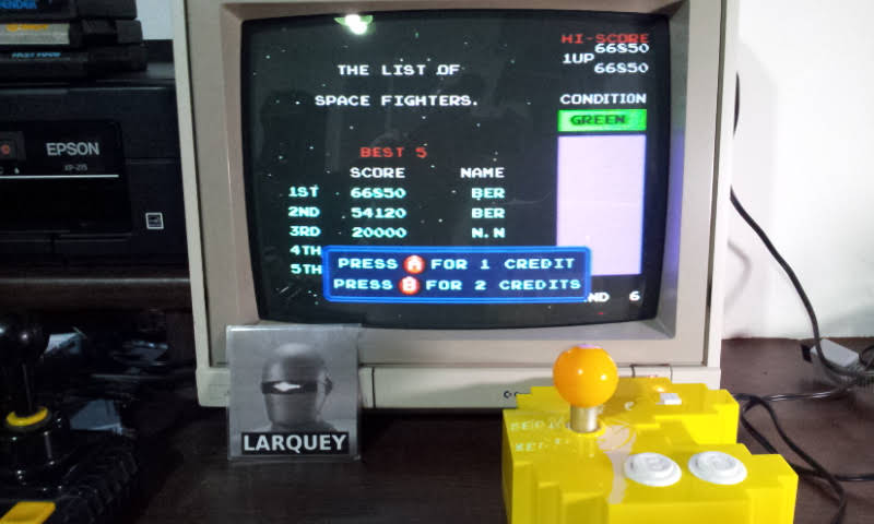 Larquey: Bosconian (Bandai Pac-Man Connect and Play) 66,850 points on 2018-07-23 15:47:48