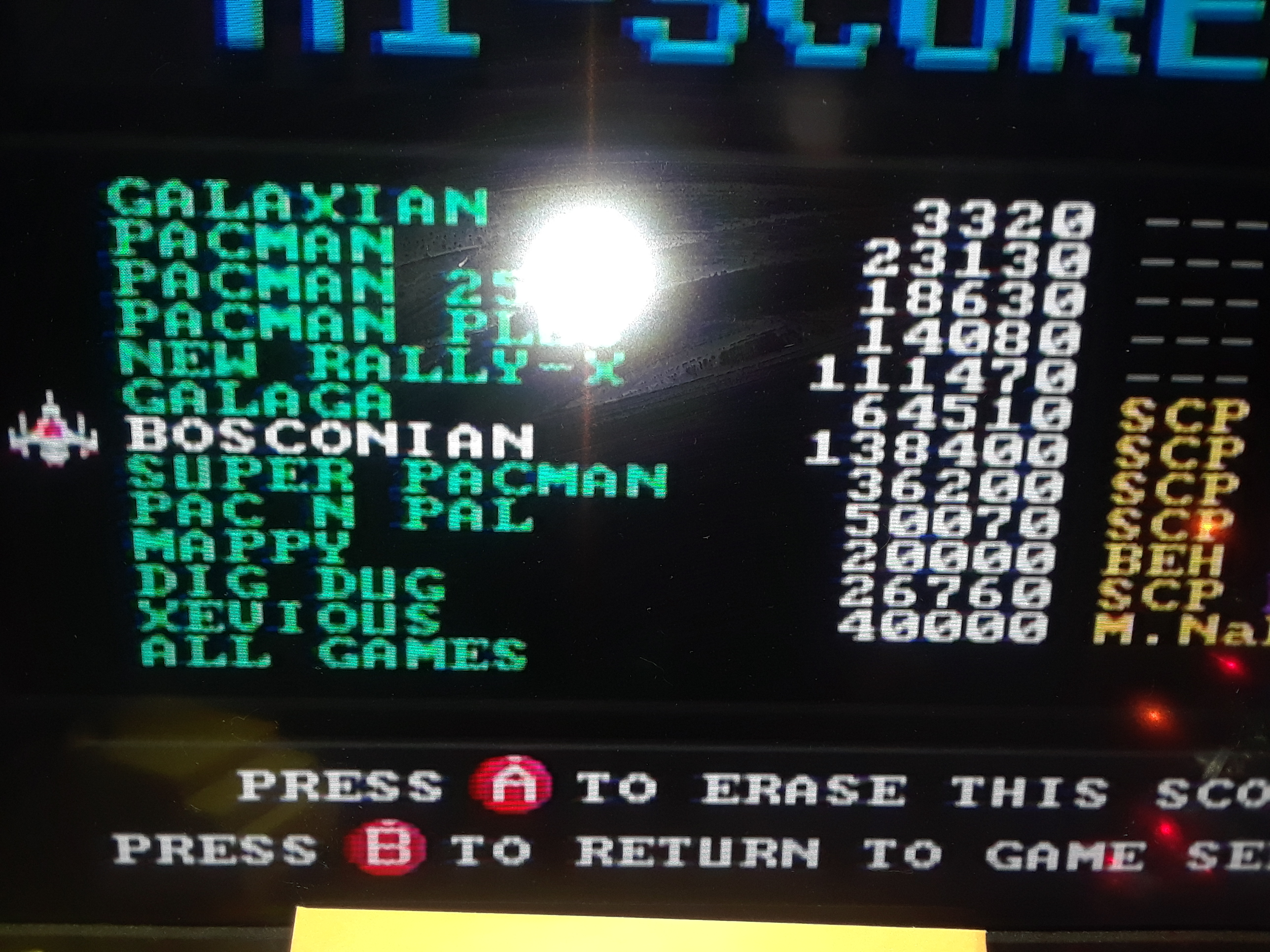 Scorechaserpony: Bosconian (Bandai Pac-Man Connect and Play) 138,400 points on 2018-12-29 12:05:09