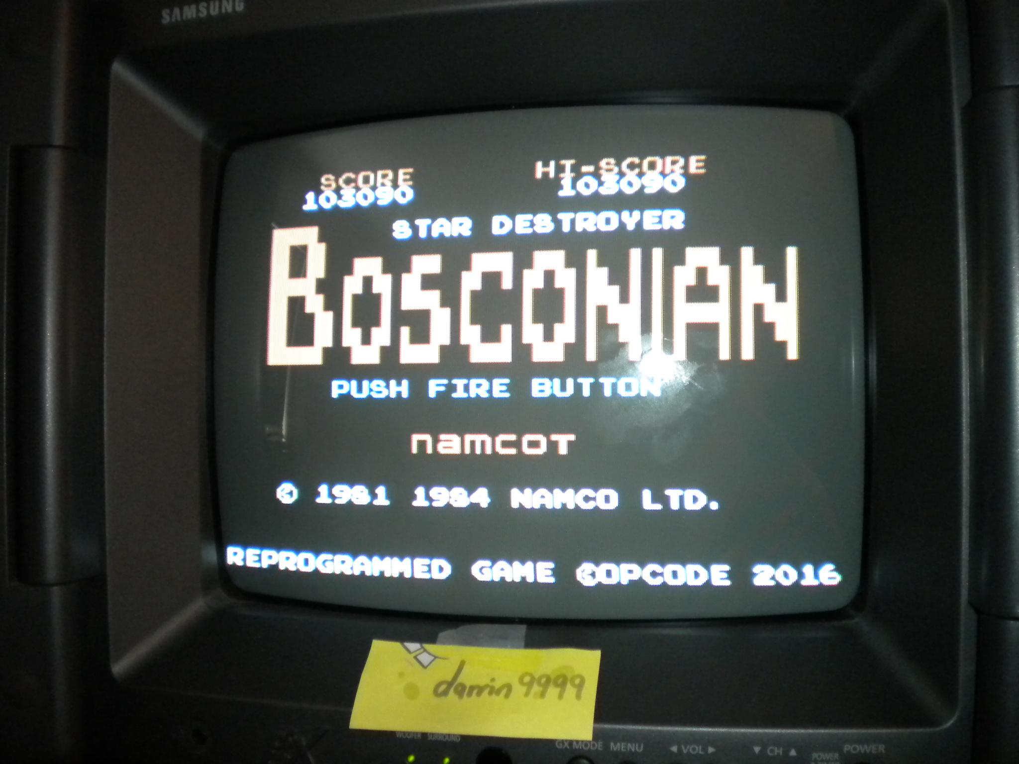 Bosconian 103,090 points