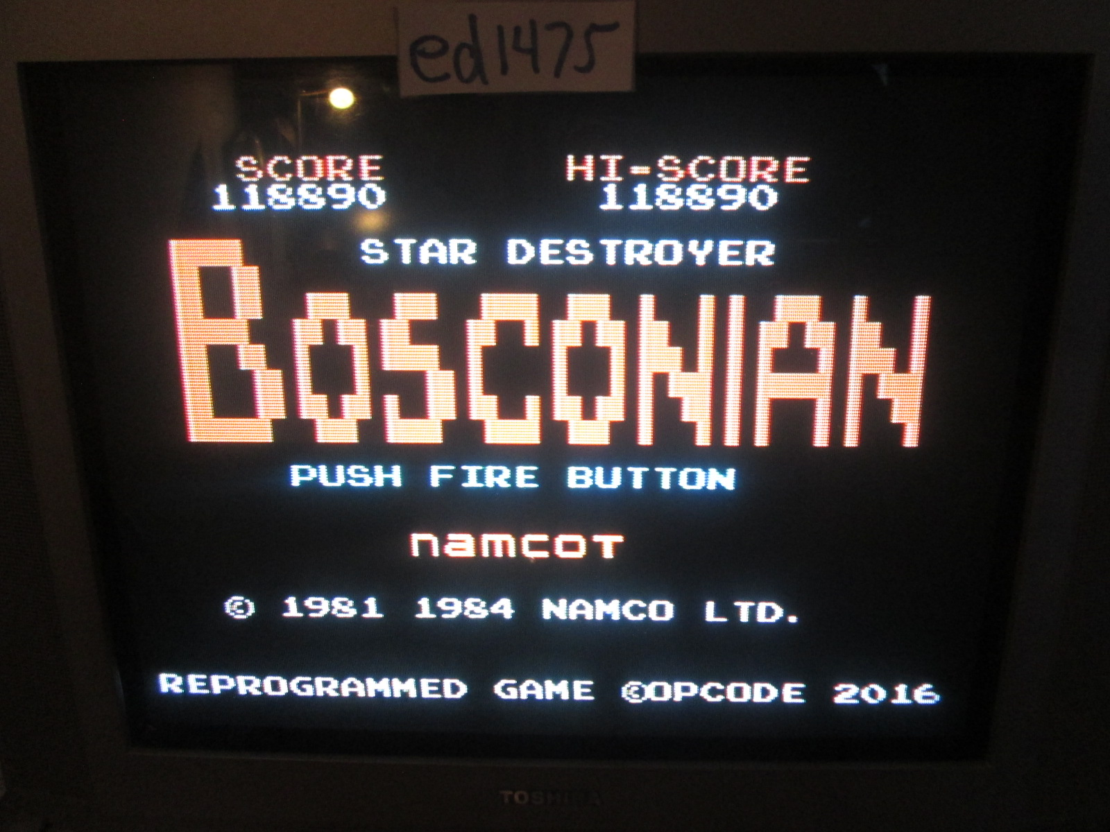 ed1475: Bosconian (Colecovision) 118,890 points on 2016-12-18 19:05:37