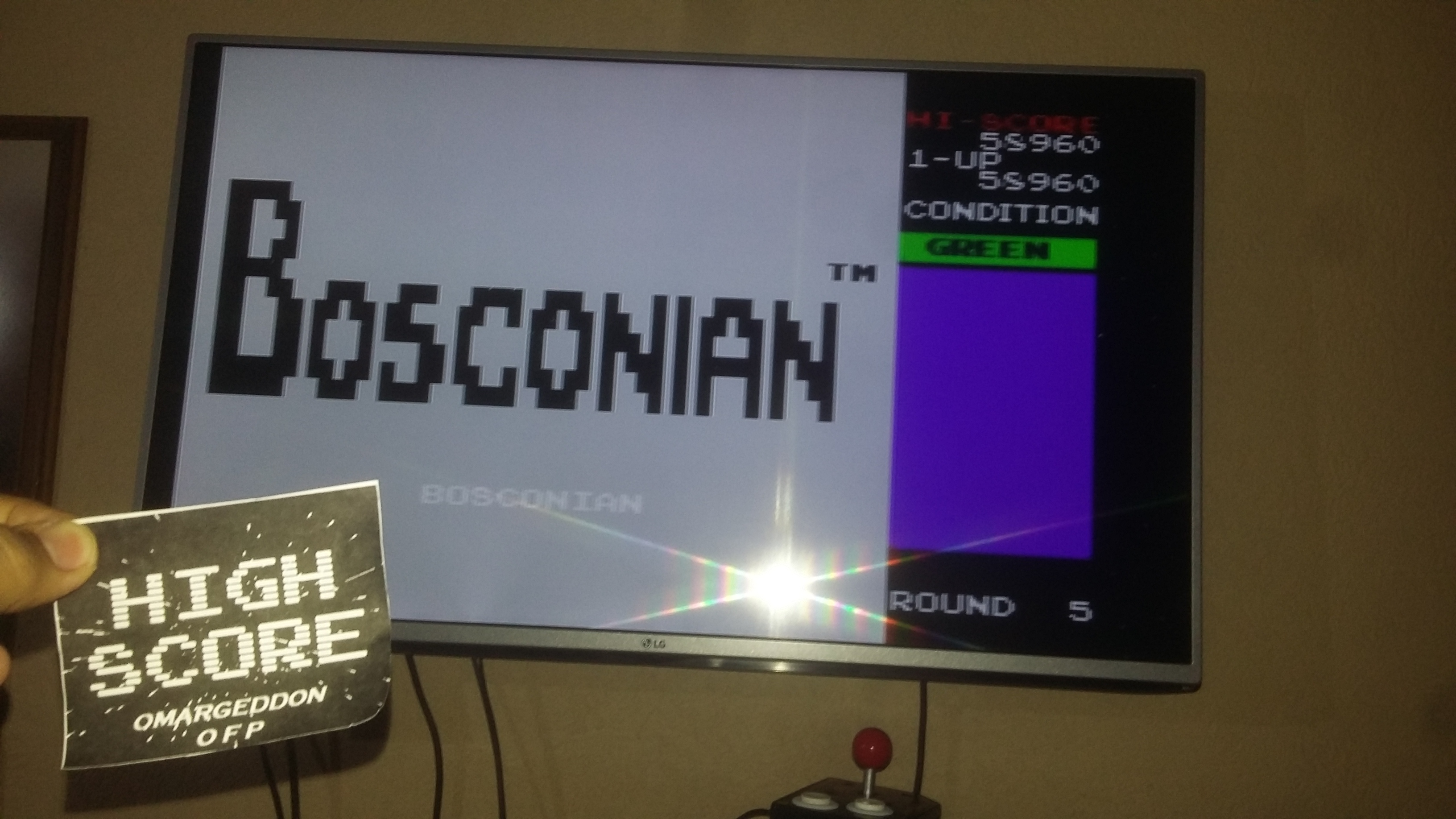 Bosconian 58,960 points