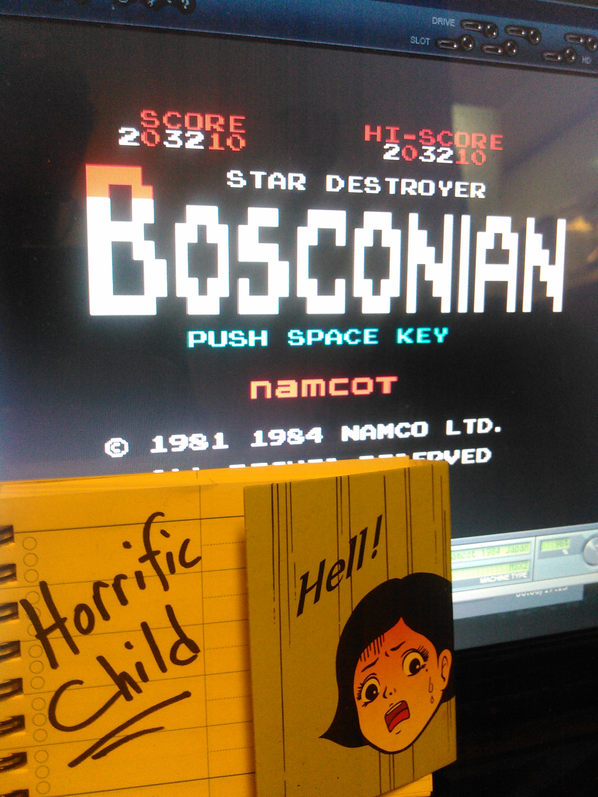 HorrificChild: Bosconian (MSX Emulated) 203,210 points on 2018-02-23 07:41:47