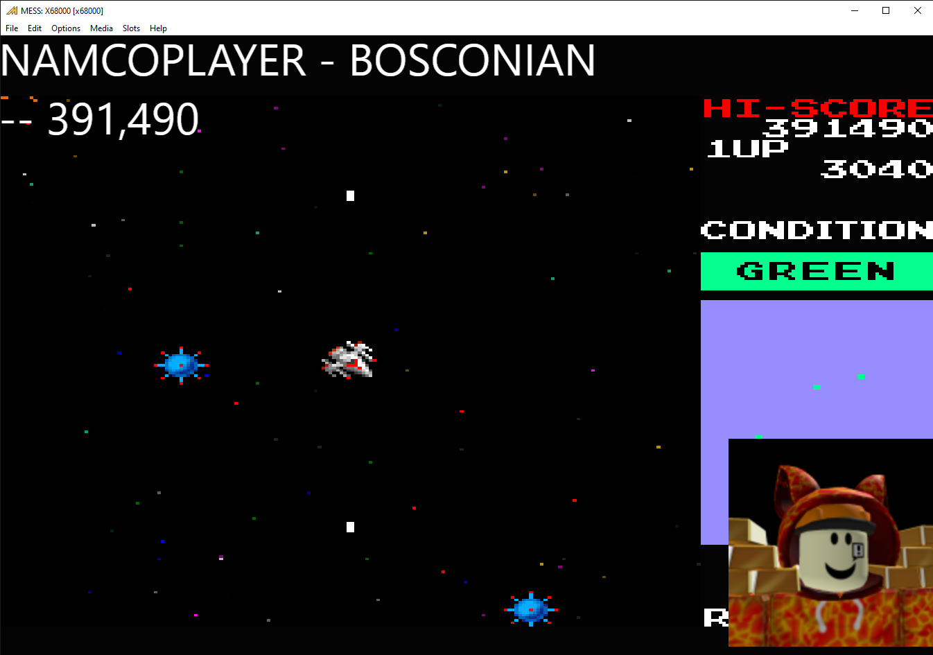 NamcoPlayer: Bosconian (Sharp X68000 Emulated) 391,490 points on 2020-09-06 16:08:20