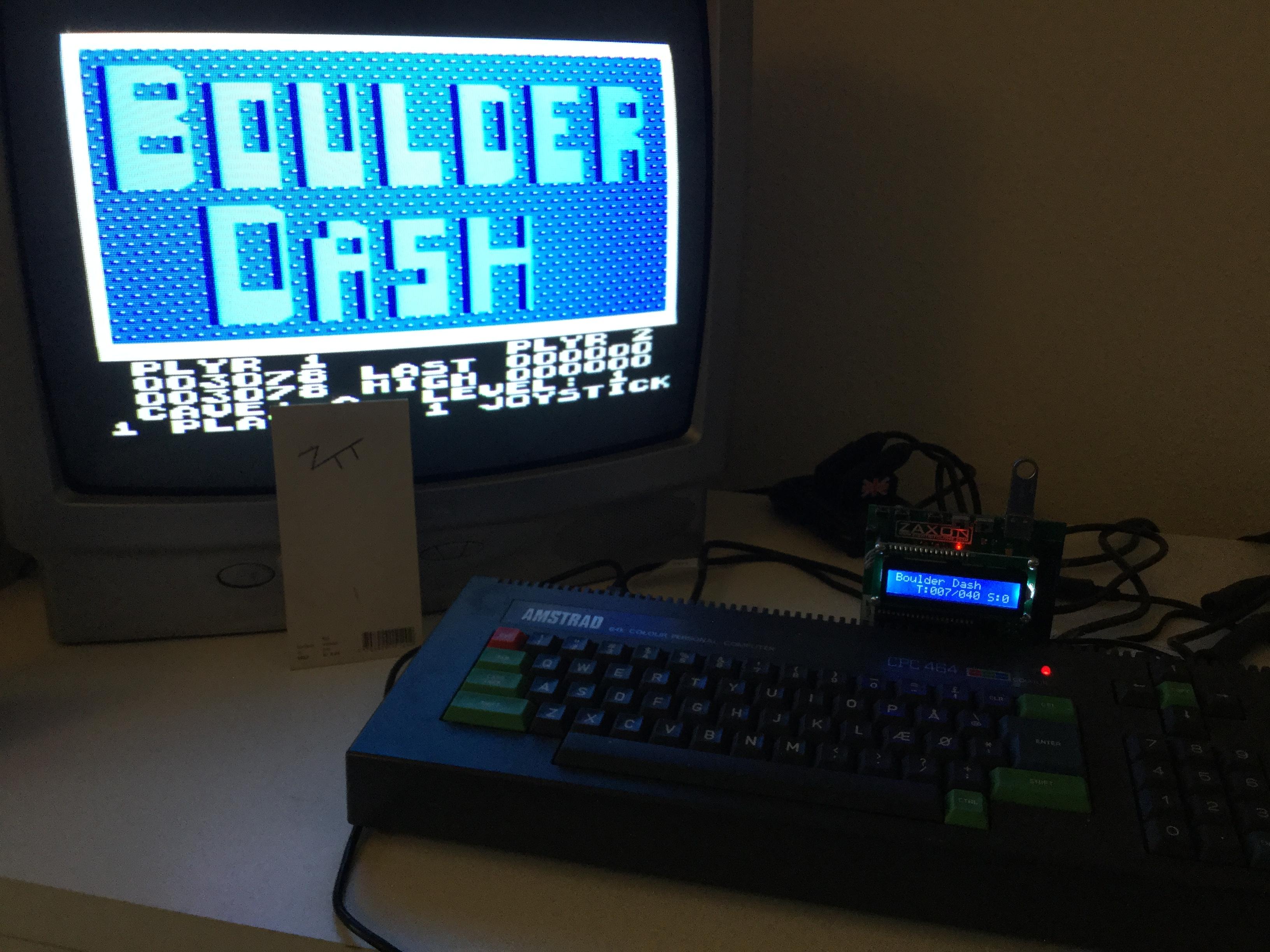 Frankie: Boulder Dash (Amstrad CPC) 3,078 points on 2017-01-22 05:58:07