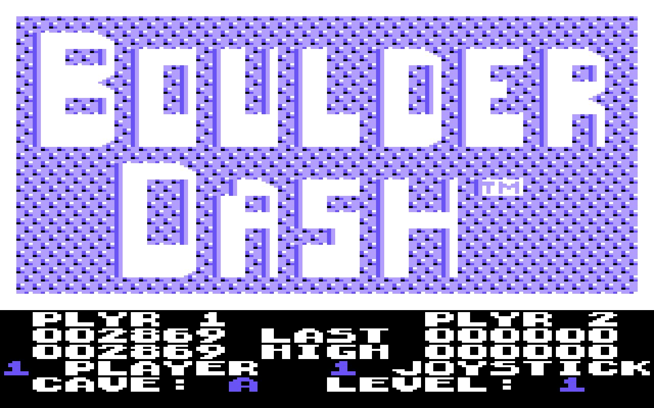 Boulder Dash 2,869 points