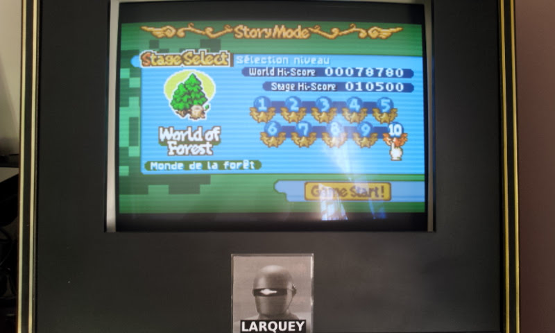 Larquey: Boulder Dash EX [EX][Story][World of Forest][Stage 10] (GBA Emulated) 10,500 points on 2017-11-19 09:29:07