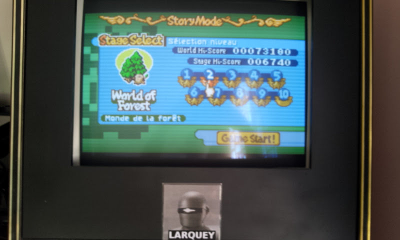 Larquey: Boulder Dash EX [EX][Story][World of Forest][Stage 2] (GBA Emulated) 6,740 points on 2017-11-19 09:11:33