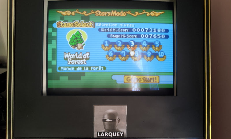 Larquey: Boulder Dash EX [EX][Story][World of Forest][Stage 3] (GBA Emulated) 7,650 points on 2017-11-19 09:13:04