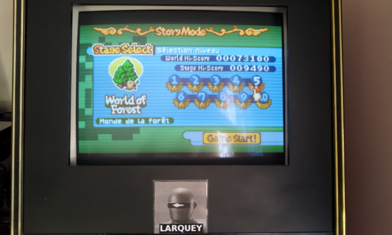 Larquey: Boulder Dash EX [EX][Story][World of Forest][Stage 5] (GBA Emulated) 9,490 points on 2017-11-19 09:17:48