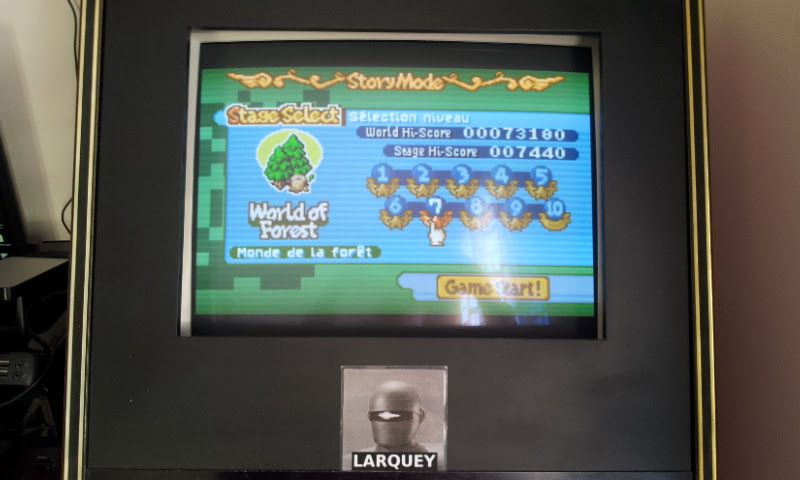 Larquey: Boulder Dash EX [EX][Story][World of Forest][Stage 7] (GBA Emulated) 7,440 points on 2017-11-19 09:22:32