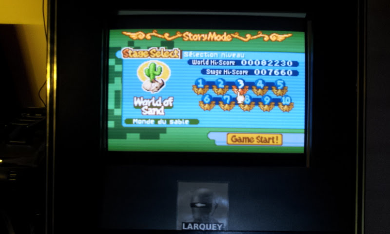 Larquey: Boulder Dash EX [EX][Story][World of Sand][Stage 3] (GBA Emulated) 7,660 points on 2018-02-10 13:42:21