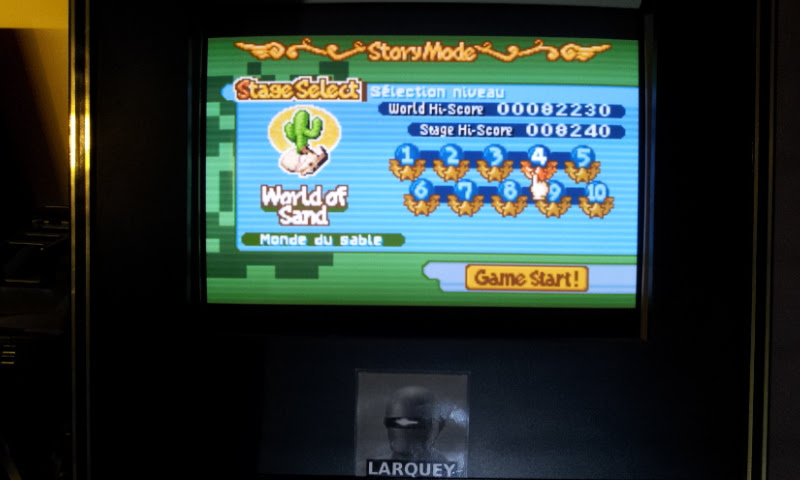 Larquey: Boulder Dash EX [EX][Story][World of Sand][Stage 4] (GBA Emulated) 8,240 points on 2018-02-10 13:43:21