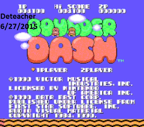 Deteacher: Boulder Dash (NES/Famicom Emulated) 4,108 points on 2015-06-27 20:24:31