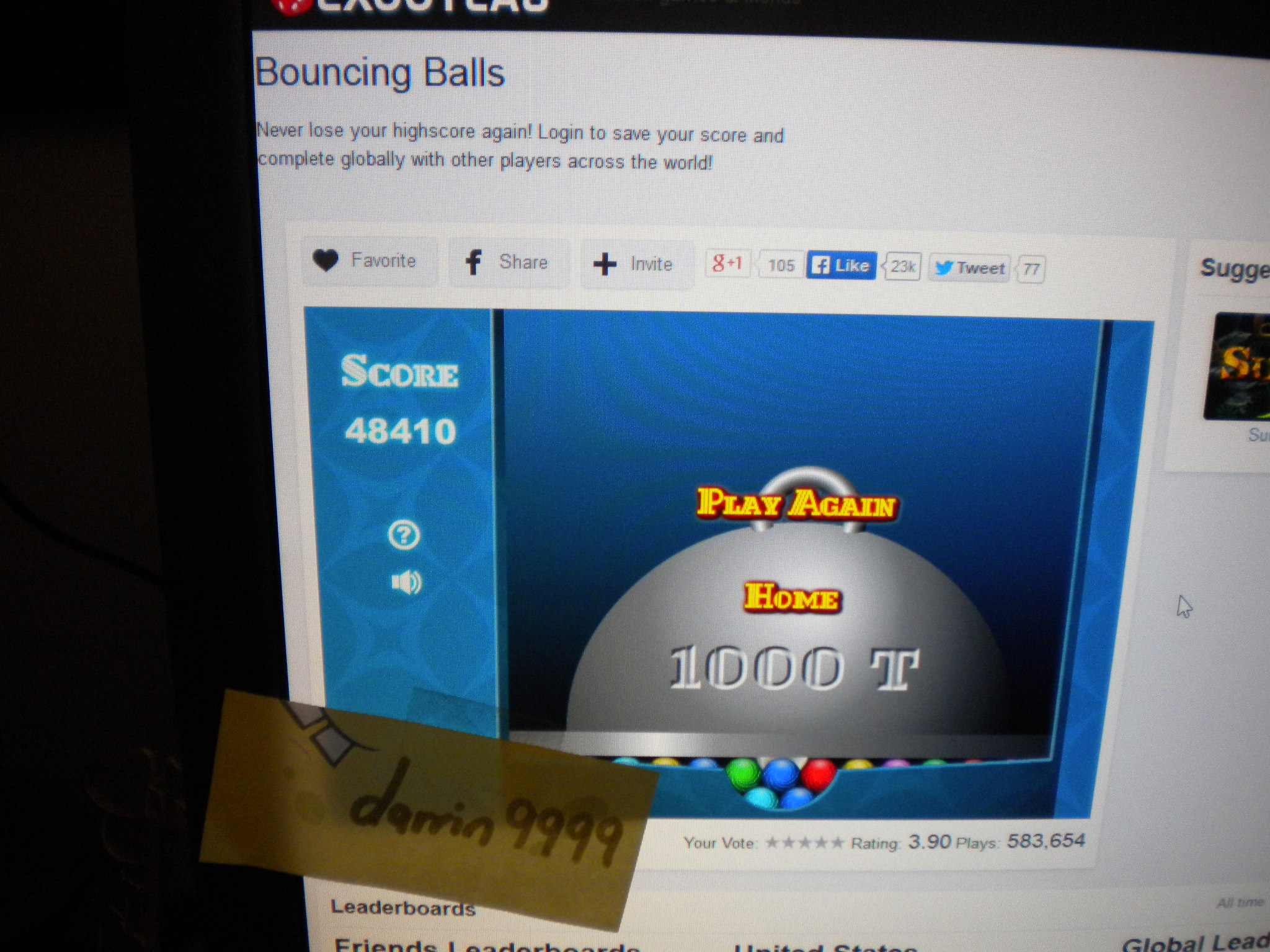 Bouncing Balls 48,410 points