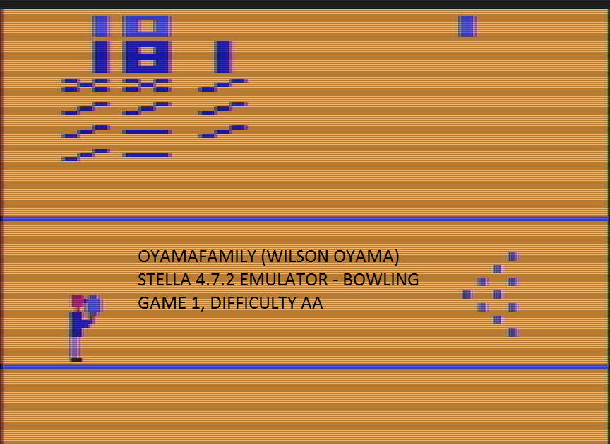 oyamafamily: Bowling (Atari 2600 Emulated Expert/A Mode) 181 points on 2017-01-02 17:20:31