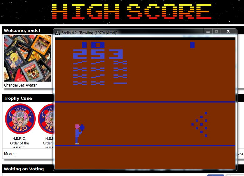 nads: Bowling (Atari 2600 Emulated Novice/B Mode) 253 points on 2015-12-05 20:02:14