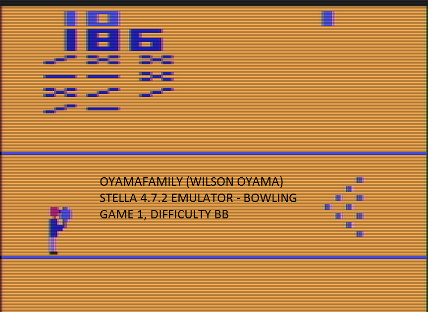 oyamafamily: Bowling (Atari 2600 Emulated Novice/B Mode) 186 points on 2017-01-02 17:21:44