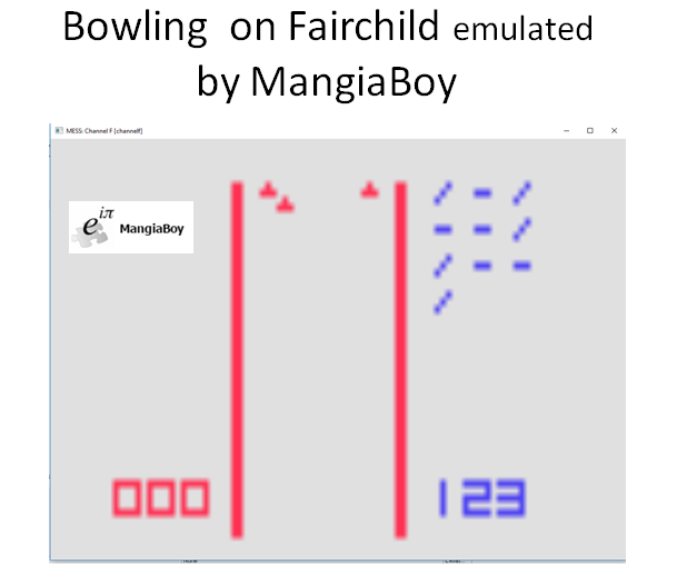 MangiaBoy: Bowling (Fairchild Channel F Emulated) 123 points on 2019-01-27 15:41:56