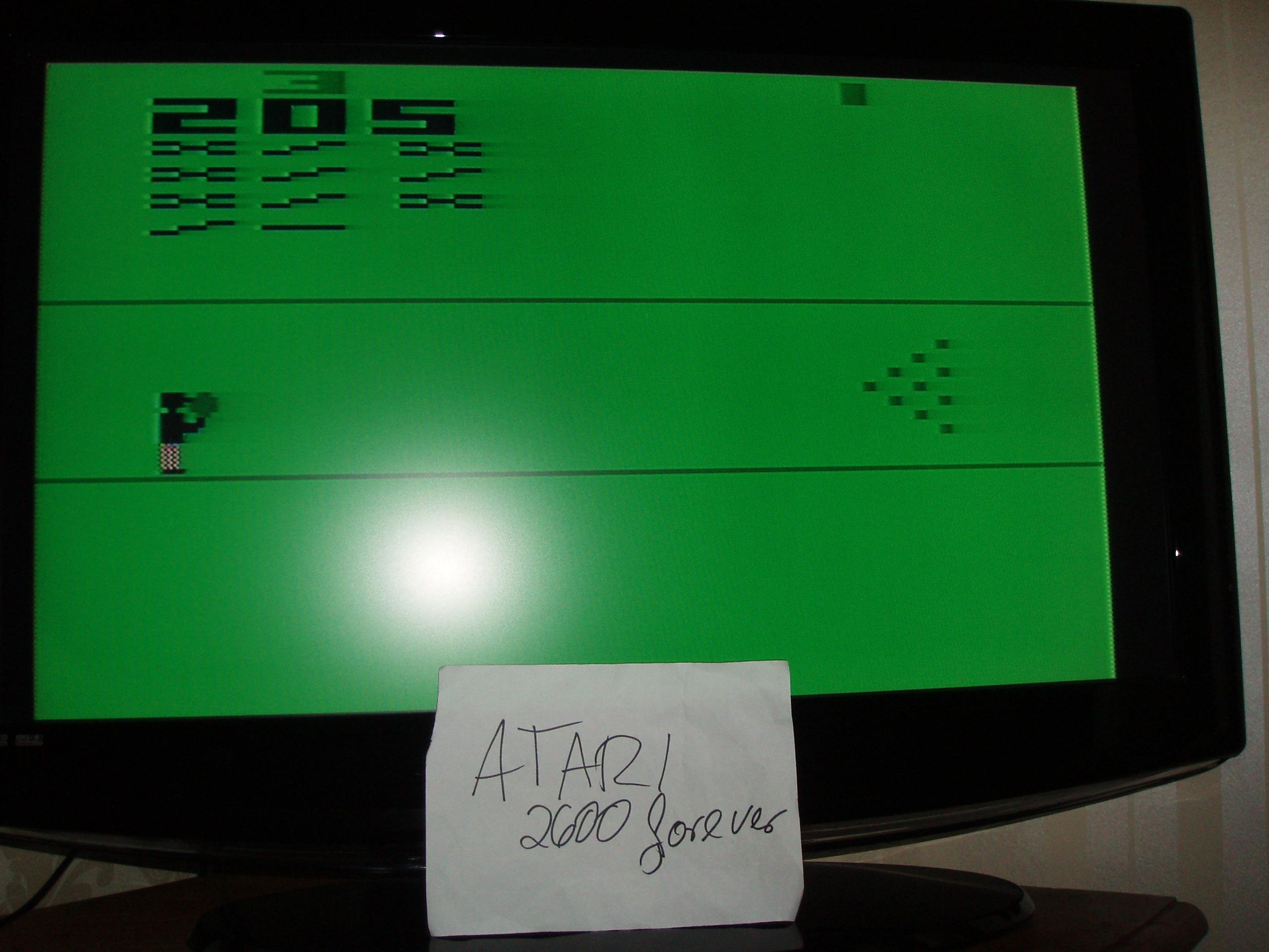 atari2600forever: Bowling: Game 3 (Atari 2600 Novice/B) 205 points on 2019-01-17 05:07:25