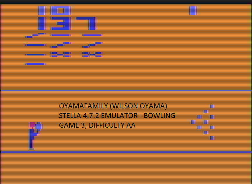 oyamafamily: Bowling: Game 3 (Atari 2600 Emulated Expert/A Mode) 137 points on 2017-01-02 17:24:37