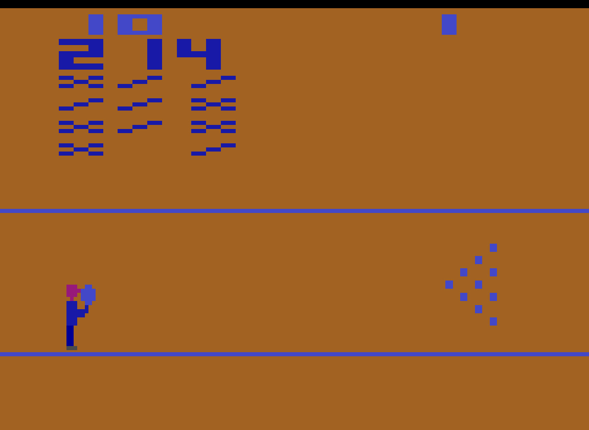 TheTrickster: Bowling: Game 3 (Atari 2600 Emulated Novice/B Mode) 214 points on 2016-07-22 04:34:23