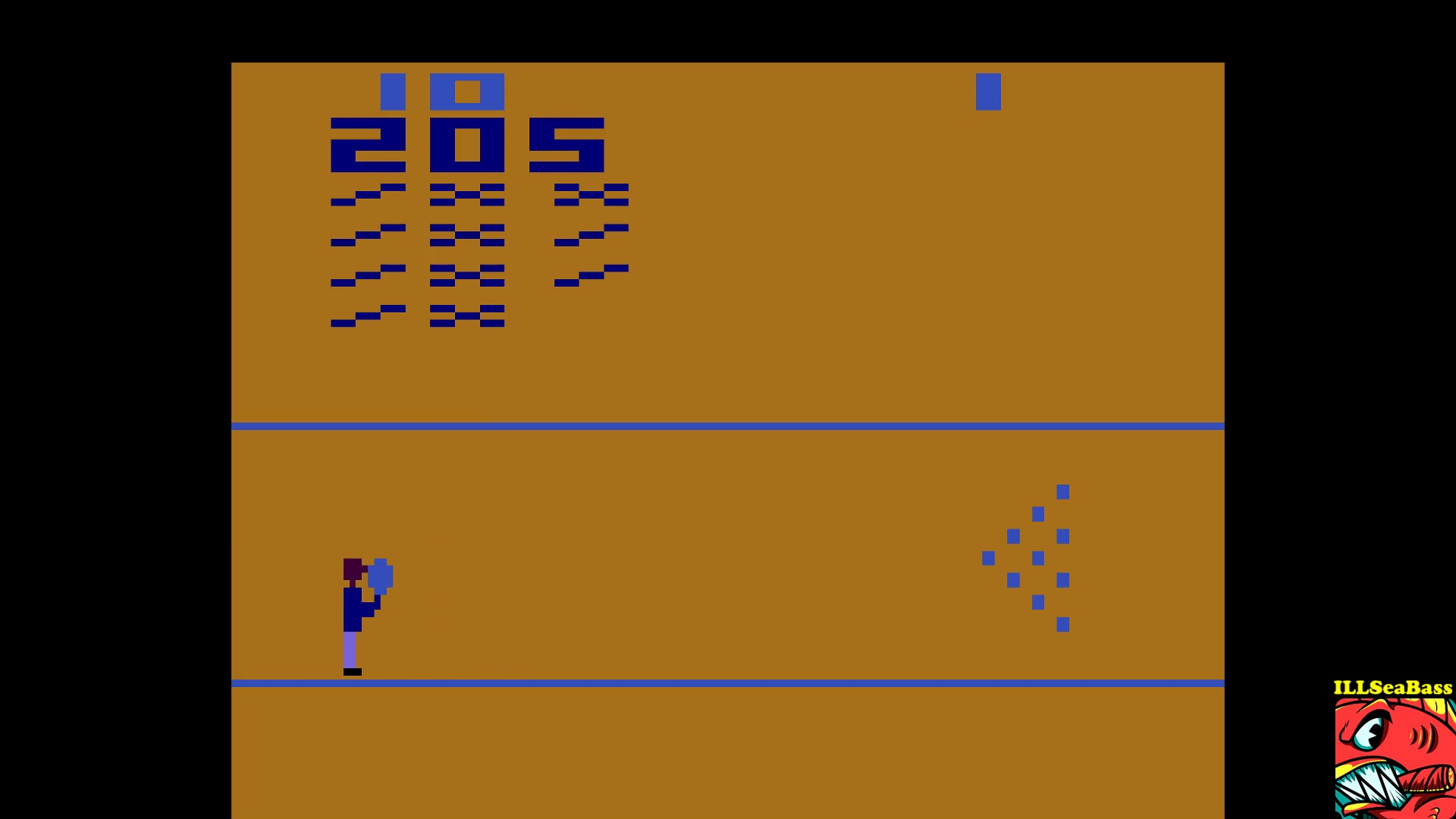 ILLSeaBass: Bowling: Game 3 (Atari 2600 Emulated Novice/B Mode) 205 points on 2017-10-25 19:34:56